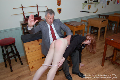 academy cb013 m - firmhandspanking - MP4/HD - Helen Stephens - Reform Academy - CB/First-ever spanking turns Helen's creamy smooth cheeks bouncing red