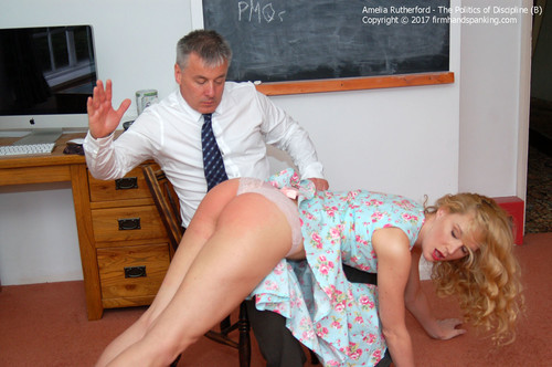 politics b003 m - firmhandspanking - HD/MP4 - Amelia Rutherford - Politics of Discipline B