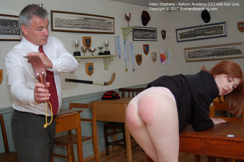 firmhandspanking – MP4/HD –  Helen Stephens – Reform Academy CD/A stinging leather strap across her bare bottom: tough justice for Helen Stephens
