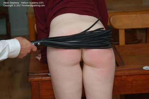 academy cf013 m - firmhandspanking - MP4/HD - Helen Stephens - Reform Academy CF/Fabulous creamy bare bottom whipping for stunning Helen Stephens