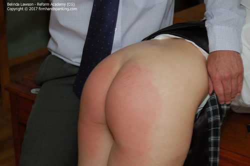 academy cg013 m - firmhandspanking - MP4/HD - Belinda Lawson - Reform Academy CG/Belinda Lawson turns up the heat with a school uniform spanking to remember!