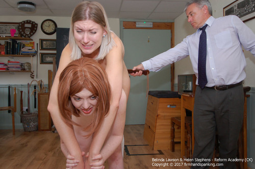 academy ck013 m - firmhandspanking – MP4/HD – Belinda Lawson - Totally nude strapping for Belinda Lawson and Helen Stephens, up on tiptoe!