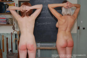 th 025816387 academy cj001 123 242lo - firmhandspanking – MP4/HD – Helen Stephens - Reform Academy CJ/Belinda and Helen stripped naked and strapped, one held on tiptoe by the other