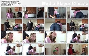 th 596902821 thumbs20171218132503 123 182lo - firmhandspanking – MP4/HD – Realistic school paddling: Lilian White takes a full-force 10 swats on tight jeans
