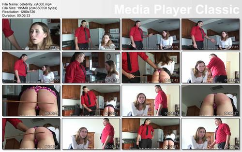 thumbs20171211104340 m - firmhandspanking – MP4/HD – Lilian White - Celebrity Brat CJ/The cane whistles as it swings down to hit Lilian White's bare bottom