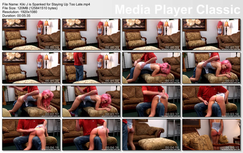 thumbs20171221222428 m - realspankingsnetwork - MP4/Full HD - Kiki J is Spanked for Staying Up Too Late