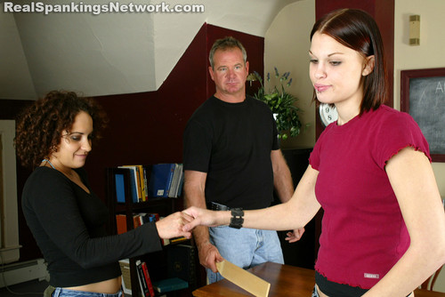 1223 075 m - bispanking – RM/SD – Kailee & Jasmine Fight (Part 1)