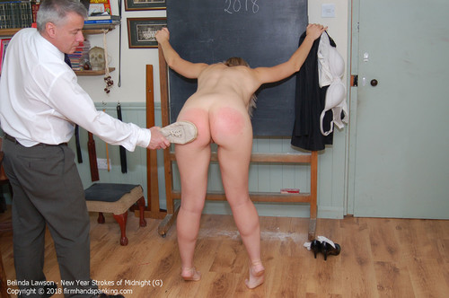 nyc g020 m - firmhandspanking - MP4/HD - Belinda Lawson - New Years Special G/Celebrate 2018 with Belinda Lawson stripped naked for a 24-stroke slippering!