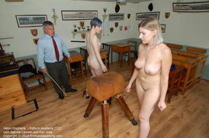 th 219144445 academy cq003 123 564lo - firmhandspanking – MP4/HD – Helen Stephens - Reform Academy CQ/Helen Stephens totally nude for a final caning, held over a gym horse
