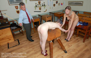 th 219145951 academy cq015 123 259lo - firmhandspanking - MP4/HD - Helen Stephens - Reform Academy CQ/Helen Stephens totally nude for a final caning, held over a gym horse