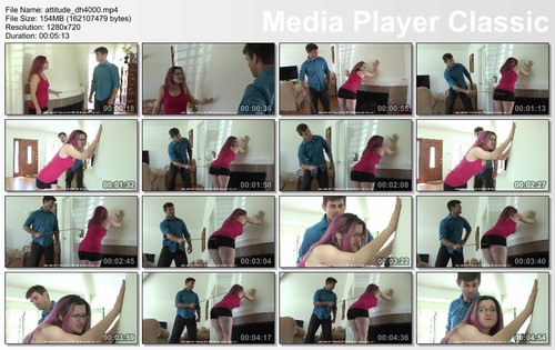 thumbs20180103222149 m - firmhandspanking - MP4/HD - Lisa Langley - Attitude Adjustment DH/Caned for bullying another student: Lisa Langley pays with a striped butt