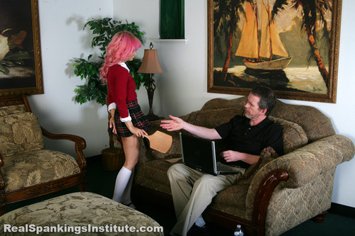 14434 008 m - realspankingsinstitute - MP4/Full HD - Kiki: Spanked with Spoon & Breadboard