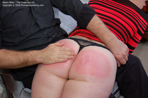 challenge aa023 m - firmhandspanking - MP4/HD - Alison Miller - The Challenge A/Bottom burned by 100 swats with a leather paddle: Alison Miller takes the heat!