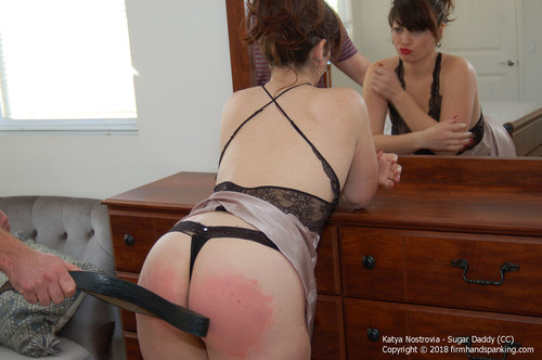 sugar cc013 m - firmhandspanking - MP4/HD - Katya Nostrovia - Sugar Daddy CC/Katya Nostrovia feels a belt across her bare bottom after stepping over the line!