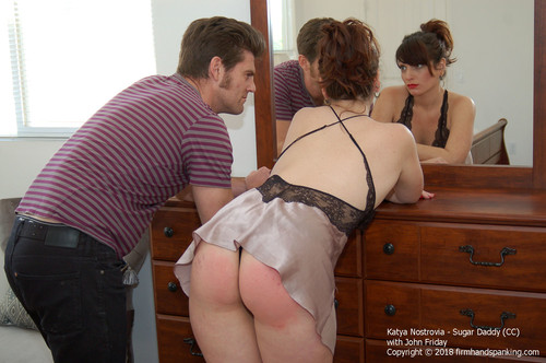 sugar cc024 m - firmhandspanking - MP4/HD - Katya Nostrovia - Sugar Daddy CC/Katya Nostrovia feels a belt across her bare bottom after stepping over the line!