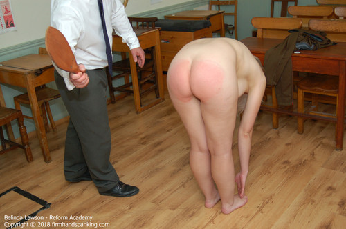 academy cs013 m - firmhandspanking – MP4/HD – Belinda Lawson - Reform Academy CS/Stripped nude, Belinda Lawson touches her toes for a blistering paddling
