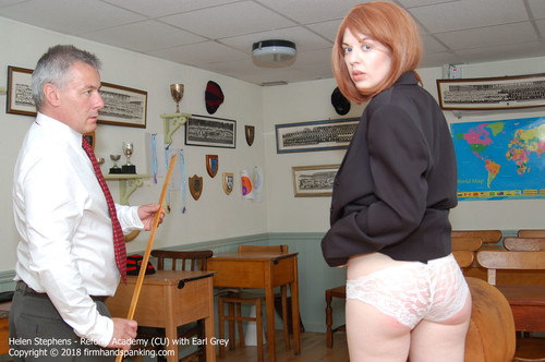 academy cu002 m - firmhandspanking – MP4/HD – Helen Stephens - Reform Academy CU/Will a bare bottom dose of the metre ruler cure Helen Stephens of tardiness?