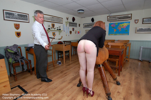academy cu015 m - firmhandspanking – MP4/HD – Helen Stephens - Reform Academy CU/Will a bare bottom dose of the metre ruler cure Helen Stephens of tardiness?