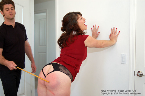 sugar cf013 m - firmhandspanking – MP4/HD – Katya Nostrovia - Sugar Daddy CF/Enjoy the crisp swish and thwack of a springy cane across Katya's bare bottom!