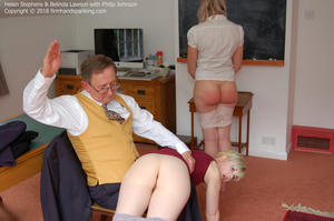 th 779665443 academy db003 123 90lo - firmhandspanking – MP4/HD - Helen Stephens - Reform Academy DB/Over the knee, panties down, for a resounding spanking: Helen feels the burn