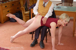 th 779668343 academy db024 123 24lo - firmhandspanking – MP4/HD - Helen Stephens - Reform Academy DB/Over the knee, panties down, for a resounding spanking: Helen feels the burn