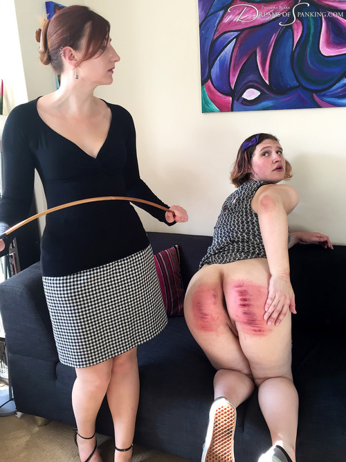 dreamsofspanking – MP4/Full HD – Pandora Blake, Tai Crimson – Caned at Home [hard punishment, humiliation, interview]