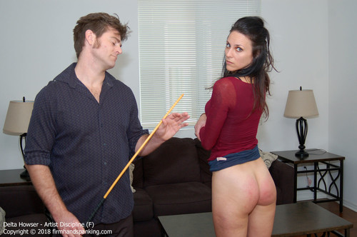 artist f024 m - firmhandspanking - MP4/HD - Delta Howser - Artist Discipline F/The whistle of a cane before it lands on her bare butt is 'scary' says Delta Howser | MAY. 23, 18