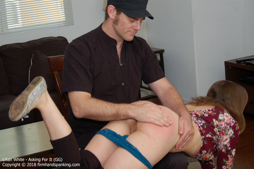asking gg016 m - firmhandspanking – MP4/HD – Lilian White - Asking For It GG/Will a bare bottom spanking test Lilian White's jiggling booty?
