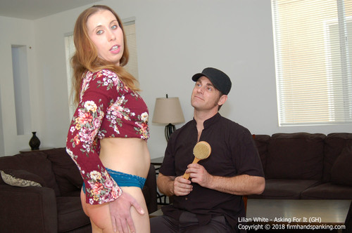 """asking gh024 m - firmhandspanking – MP4/HD – Lilian White - Asking For It GH/""""The bath brush is the WORST!"""" complains Lilian White after a spanking 