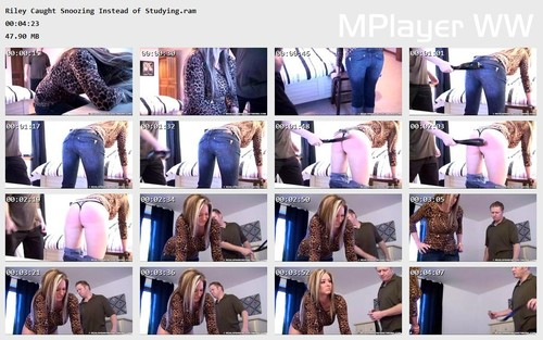 Riley Caught Snoozing Instead of Studying Preview m - realstrappings – RM/HD – Riley Caught Snoozing Instead of Studying