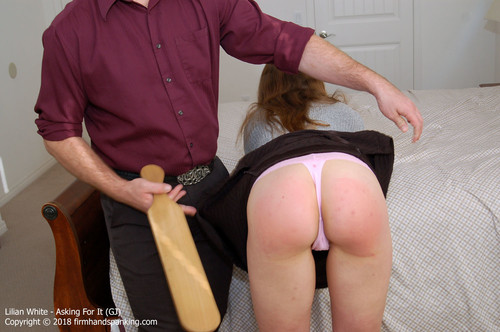 asking gj002 m - firmhandspanking – MP4/HD – Lilian White - Asking For It GJ/Smacking her bare bottom with a wooden paddle gets results with Lilian White |  Jun 01, 18