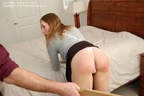 asking gj013 m - firmhandspanking – MP4/HD – Lilian White - Asking For It GJ/Smacking her bare bottom with a wooden paddle gets results with Lilian White |  Jun 01, 18