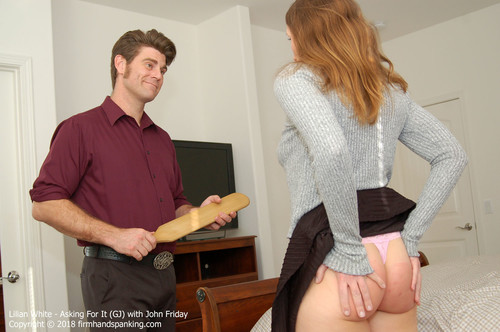 asking gj023 m - firmhandspanking – MP4/HD – Lilian White - Asking For It GJ/Smacking her bare bottom with a wooden paddle gets results with Lilian White |  Jun 01, 18