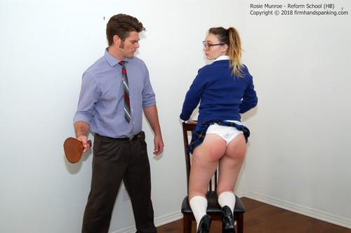 reform hb012 m - firmhandspanking – MP4/HD – Rosie Munroe - Reform School HB/School uniform paddling for troublesome Rosie Munroe on bare skin |  Jun 22, 2018