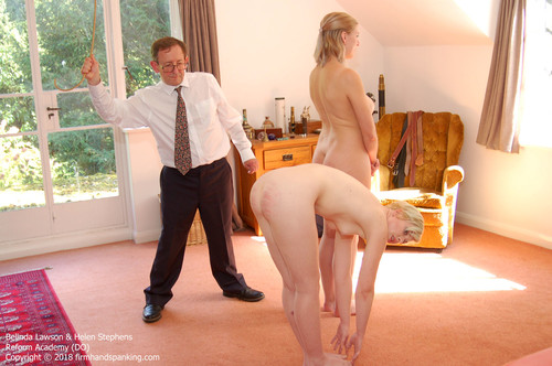 academy do013 m - firmhandspanking – MP4/HD – Belinda Lawson - Reform Academy DO/Nude double caning with Belinda Lawson, Helen Stephens touching toes in turn |  Jul 16, 2018