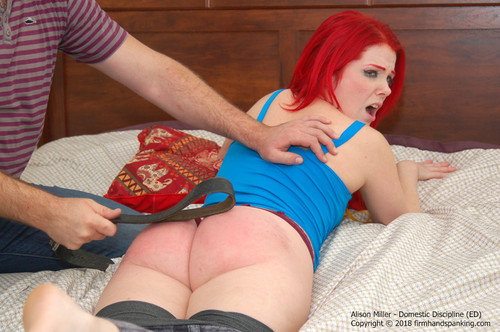 domestic ed013 m - firmhandspanking – MP4/HD – Alison Miller - Domestic Discipline ED/Drunk with her girlfriends, Alison Miller faces a spanking and the belt!  download for free