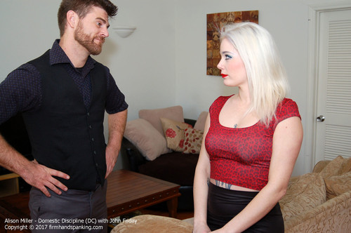 domestic dc001 m - firmhandspanking – MP4/HD – Alison Miller - Domestic Discipline DC