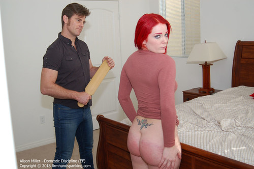 domestic ef024 m - firmhandspanking – MP4/HD – Alison Miller - Domestic Discipline EF/Will a wooden paddle across her butt teach Alison Miller to spend more wisely?  | Aug 01, 2018 download for free