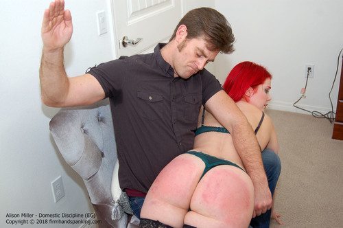 domestic eg012 m - firmhandspanking – MP4/HD – Alison Miller - Domestic Discipline EG/Alison Miller classic over-the-knee bare bottom spanking gets it bouncing red! |  Aug 08, 2018 download for free