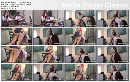 thumbs20180814154031 m - girlspanksgirl – MP4/HD – Clare Fonda, April Snow, Judy Jolie - Spanking In Detention download for free