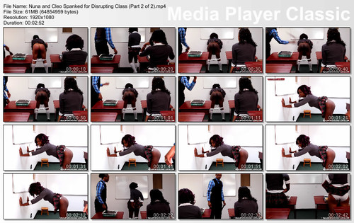 thumbs20180815233109 m - realspankingsinstitute – MP4/Full HD – Nuna and Cleo Spanked for Disrupting Class (Part 2 of 2) | August 15, 2018 download for free