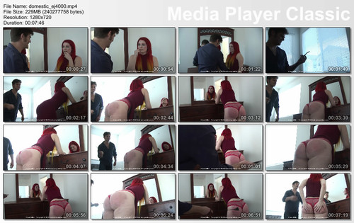 thumbs20180826124320 m - firmhandspanking – MP4/HD – Alison Miller - Domestic Discipline EJ/Red hair, red dress - and now a red ass: Alison Miller meets a riding crop! download for free