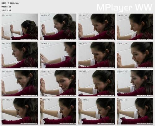 8881 2 700 Preview m - Spanking Teen Brandi – RM/SD – Schoolgirl Yardstick Spanking