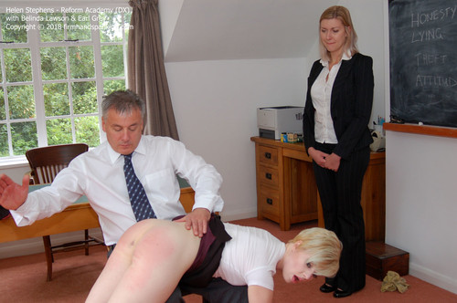 academy dx015 m - Firm Hand Spanking – MP4/HD – Helen Stephens - Reform Academy DX/Spanked bare bottom to the max: Helen Stephens is over the knee for dishonesty