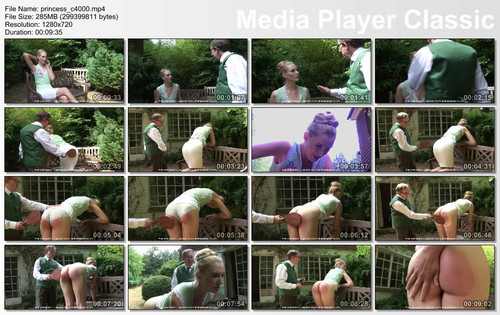 thumbs20180915084533 m - Firm Hand Spanking – MP4/HD – Amelia Rutherford - Princess Punishment C/A leather paddle for bare-bottomed princess Amelia's sound spanking