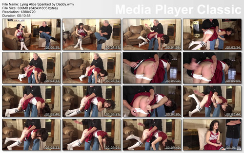 thumbs20180916110613 m - Cheerleader Spankings – MP4/HD – Alice Michaels - Lying Alice Spanked by Daddy