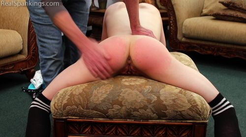 5bd88e0838419 2 - Real Spankings – MP4/Full HD – Stripped and Spread for Her spanking  | October 15, 2018