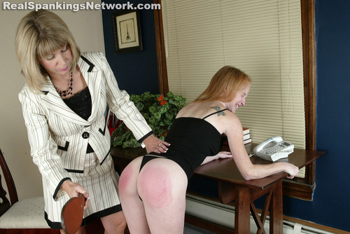 7774 028 m - Spanking Teen Jessica – RM/SD – Ms. Burns Gets a Call from School