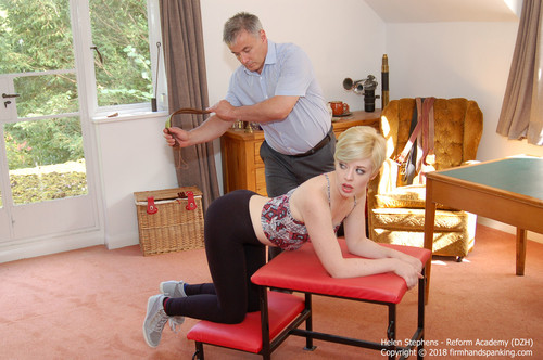 Firm Hand Spanking – MP4/HD – Helen Stephens – Reform Academy DZH/Helen Stephens takes a Reform Academy strapping on leggings and bare bottom