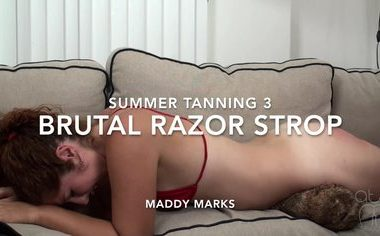 default 4 380x236 - Assume The Position Studios – MP4/HD – MADDY MARKS,THE MASTER - SUMMER TANNING 3- BRUTAL BARE RAZOR STROPPING - MADDY MARKS | October 30, 2018